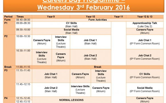 Careers Day Programme