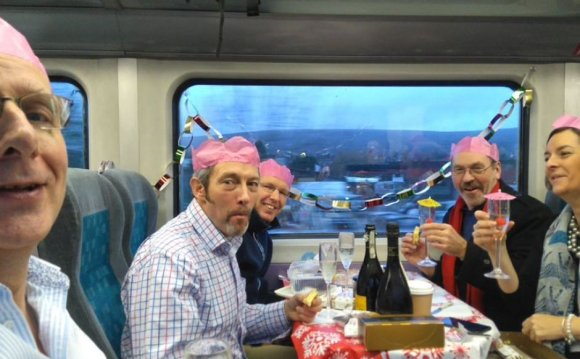 Commuters hold Christmas party