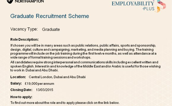 Graduate Recruitment Scheme