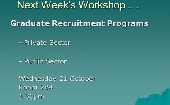 Graduate Recruitment Programs