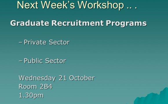 Graduate Recruitment Programs