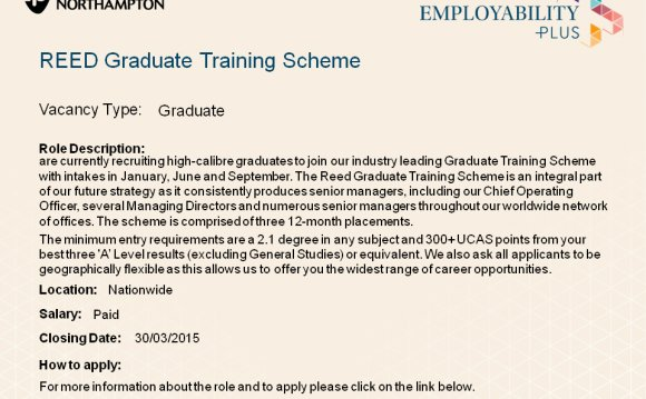 REED Graduate Training Scheme