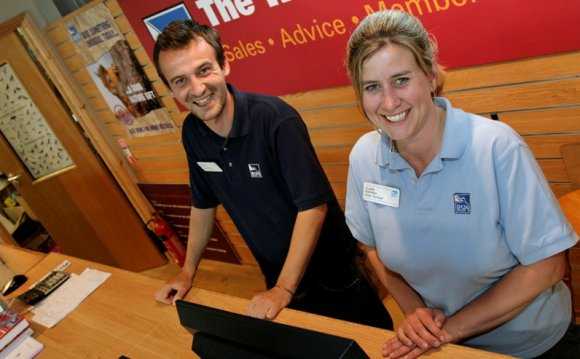 Retail assistants Gareth and