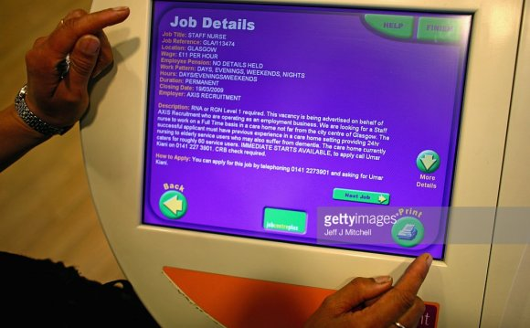 A touch screen job search is