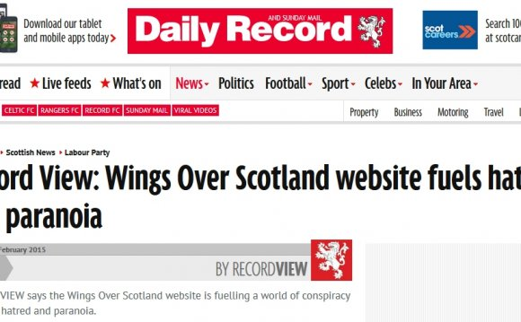 Tonight the Daily Record snuck