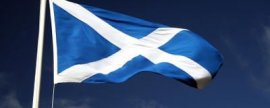 Flying a saltire