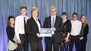 Investors In young adults Award, Perm Sec, Barbara Allison and contemporary Apprentices - resized
