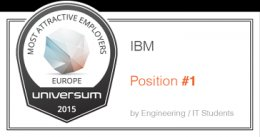 Many appealing businesses European countries. Universum 2015. IBM Position no. 1 by Engineering/IT Students