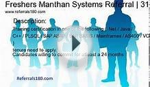 Freshers Manthan Systems Referral | Graduate Engineer