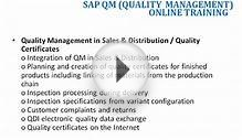 sap quality management(qm)online training in india