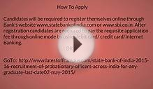 SBI Probationary Officers PO Recruitment 2062 Vacancy